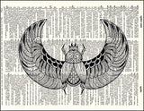 An image of a(n) Scarab Dictionary Art Print.