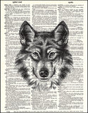 An image of a(n) Wolf Dictionary Art Print.