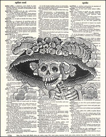An image of a(n) Posada Hat Dictionary Art Print.