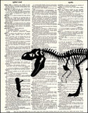 An image of a(n) Pet T-rex Dictionary Art Print.