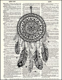An image of a(n) Dreamcatcher Dictionary Art Print.