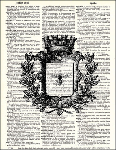 An image of a(n) Queen Bee Dictionary Art Print.