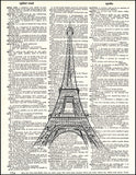 An image of a(n) Eiffel Tower Dictionary Art Print.