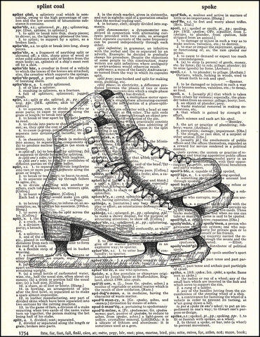 An image of a(n) Ice Skates Dictionary Art Print.