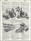 An image of a(n) I Love Wine Dictionary Art Print.