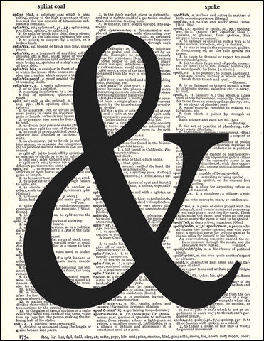 An image of a(n) Ampersand Dictionary Art Print.