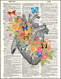 An image of a(n) Hearts with Flowers Dictionary Art Print.