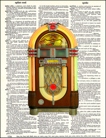 An image of a(n) Jukebox Dictionary Art Print.