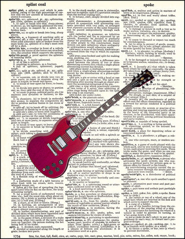 An image of a(n) Gibson Guitar Dictionary Art Print.