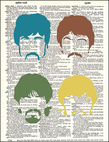 An image of a(n) Beatles Pop Dictionary Art Print.