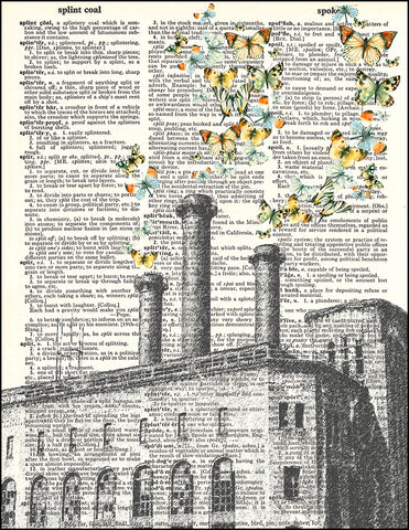 An image of a(n) Butterfly Smoke Stacks Dictionary Art Print.