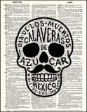 An image of a(n) Calavera Dictionary Art Print.