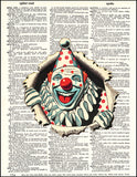 An image of a(n) Clown Popping Out Dictionary Art Print.