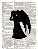 An image of a(n) Dr Who Angel Dictionary Art Print.