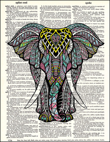 An image of a(n) Elephant Zen Dictionary Art Print.