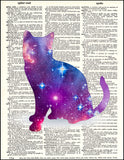 An image of a(n) Cosmic Kitty Dictionary Art Print.