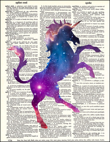 An image of a(n) Cosmic Unicorn Dictionary Art Print.