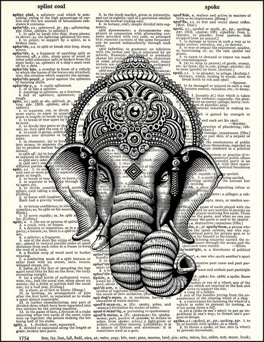 An image of a(n) Ganesh Dictionary Art Print.