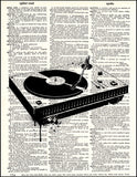 An image of a(n) Turntable Dictionary Art Print.