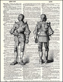 An image of a(n) Knights Armor Dictionary Art Print.
