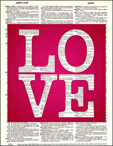 An image of a(n) LOVE Square Dictionary Art Print.