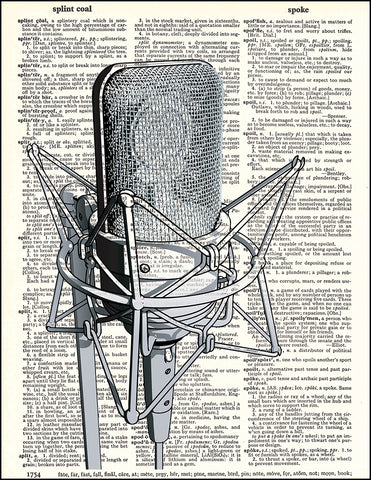 An image of a(n) Microphone Dictionary Art Print.