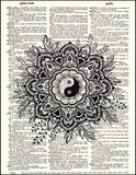 An image of a(n) Yin Yang Flower Dictionary Art Print.
