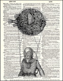 An image of a(n) Pufferfish Balloon Dictionary Art Print.