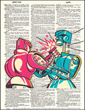 An image of a(n) Rock'em Sock'em Robots Dictionary Art Print.