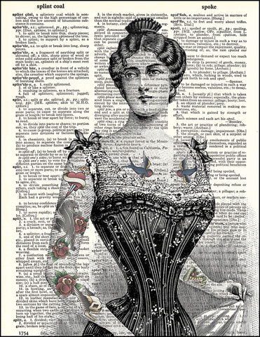 An image of a(n) Tattooed Victorian Dictionary Art Print.