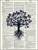 An image of a(n) Tree Silhouette 2 Dictionary Art Print.