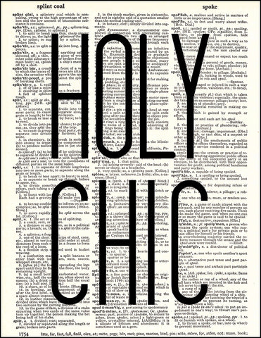 An image of a(n) Holy Chic Dictionary Art Print.