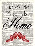 An image of a(n) There's No Place Like Home Dictionary Art Print.