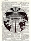 An image of a(n) Alien Abduction Dictionary Art Print.