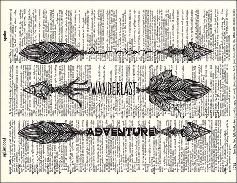 An image of a(n) Arrows Dictionary Art Print.