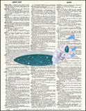 An image of a(n) Astronaut Hole Dictionary Art Print.