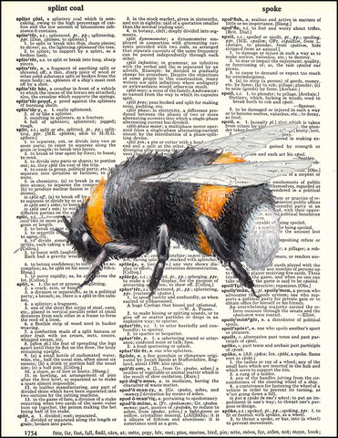 An image of a(n) Bumblebee Watercolor Dictionary Art Print.