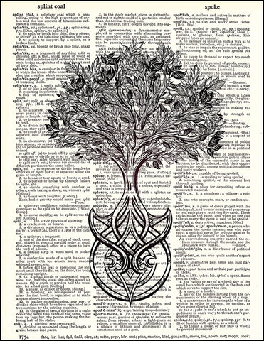An image of a(n) Celtic Tree of Life Dictionary Art Print.