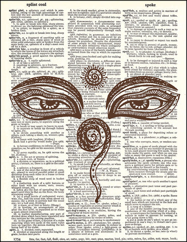 An image of a(n) Henna Eyes Dictionary Art Print.