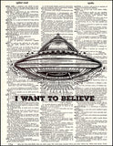An image of a(n) I Want To Believe Dictionary Art Print.