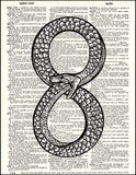 An image of a(n) Infinity Snake Dictionary Art Print.