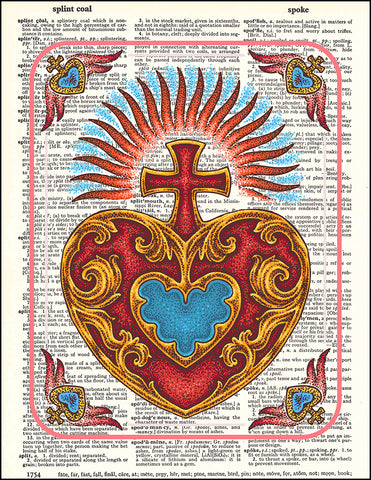 An image of a(n) Sacred Heart Dictionary Art Print.