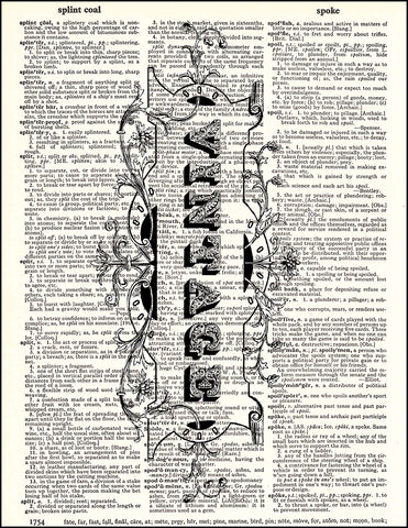 An image of a(n) Vintage Sign Dictionary Art Print.