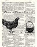 An image of a(n) Which Came First Dictionary Art Print.