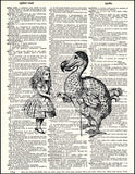An image of a(n) Dodo and Alice Dictionary Art Print.