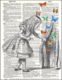 An image of a(n) Alice and Butterflies Dictionary Art Print.