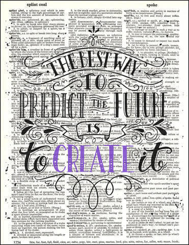An image of a(n) Typography - Create It Dictionary Art Print.