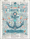 An image of a(n) Typography - Smooth Sea Dictionary Art Print.