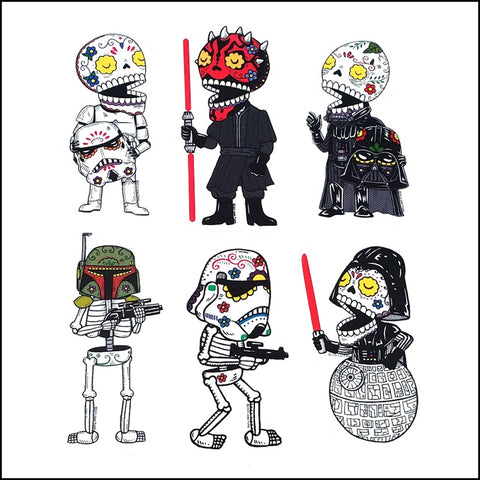 An image of a(n) Star Wars Darkside Set inspired  Day of the Dead sticker.
