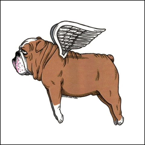An image of a(n) Flying Bulldog inspired  Day of the Dead sticker.